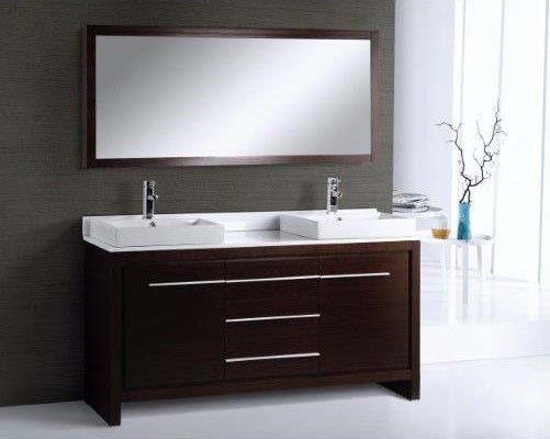 Bt Adornus Alexa 60 Double Modern Bathroom Vanity Set Wenge