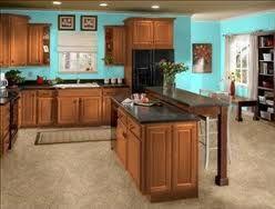 Pin By Amanda Boutchia On Kitchen Kitchen Design Decor Brown Kitchen Cabinets Teal Kitchen