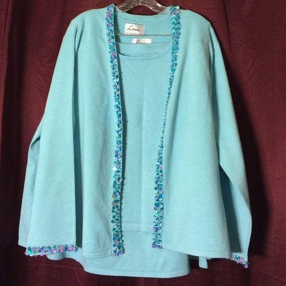 Sweater skirt ensemble Linea ensemble . Sooo pretty. Excellent condition. Linea Skirts