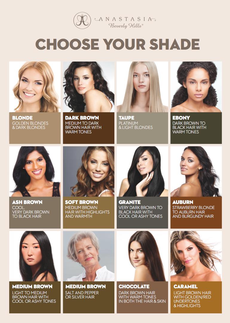 Anastasia brow gel how to choose your shade makeup maquillaje