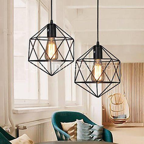 Contemporain traditionnel classique rustique led m tal lampe suspenduesalle de s jour - Luminaire suspendu chambre a coucher ...