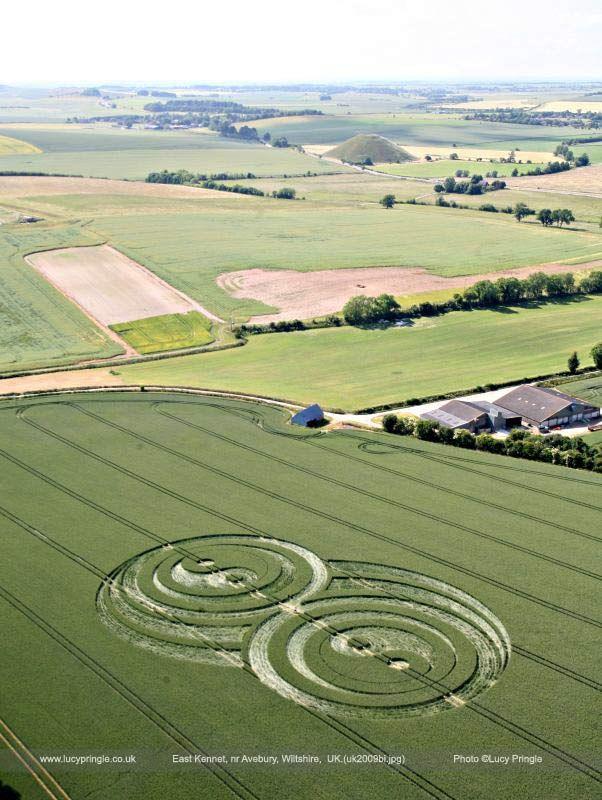 Double Yin and Yang crop circle
