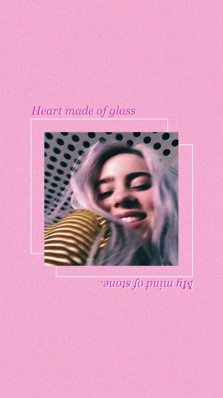 Billie Eilish Wallpaper Billie Eilish Aesthetics Billie Billie Eilish Pink Wallpaper