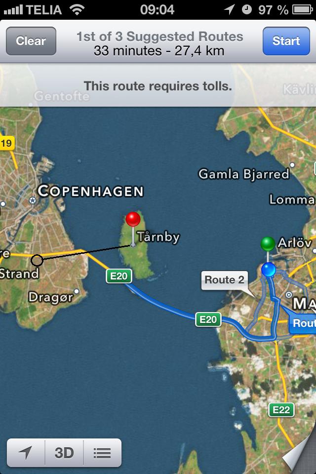 Trnby Denmark 40000 inhabitants has become an islandTo get