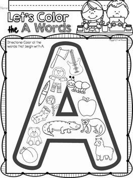 ALPHABET A LETTER OF THE WEEK (A) For your letter of the