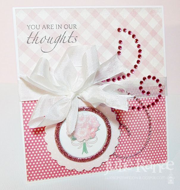 Featuring Zva Creative pink flourish with embellishments from Martha Stewart, stamp sentiment from 'Hope Blooms' by The Craft's Meow & paper from My Mind's Eye