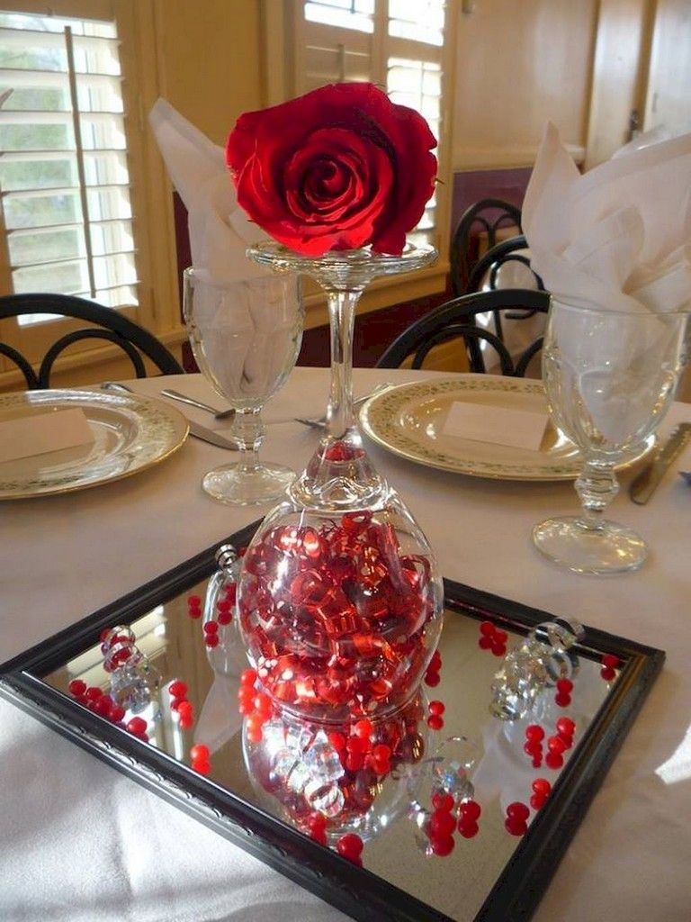 Loving Valentine S Table Decor Ideas That You Will Love Simple Table Decorations Diy Valentine S Centerpieces Romantic Table