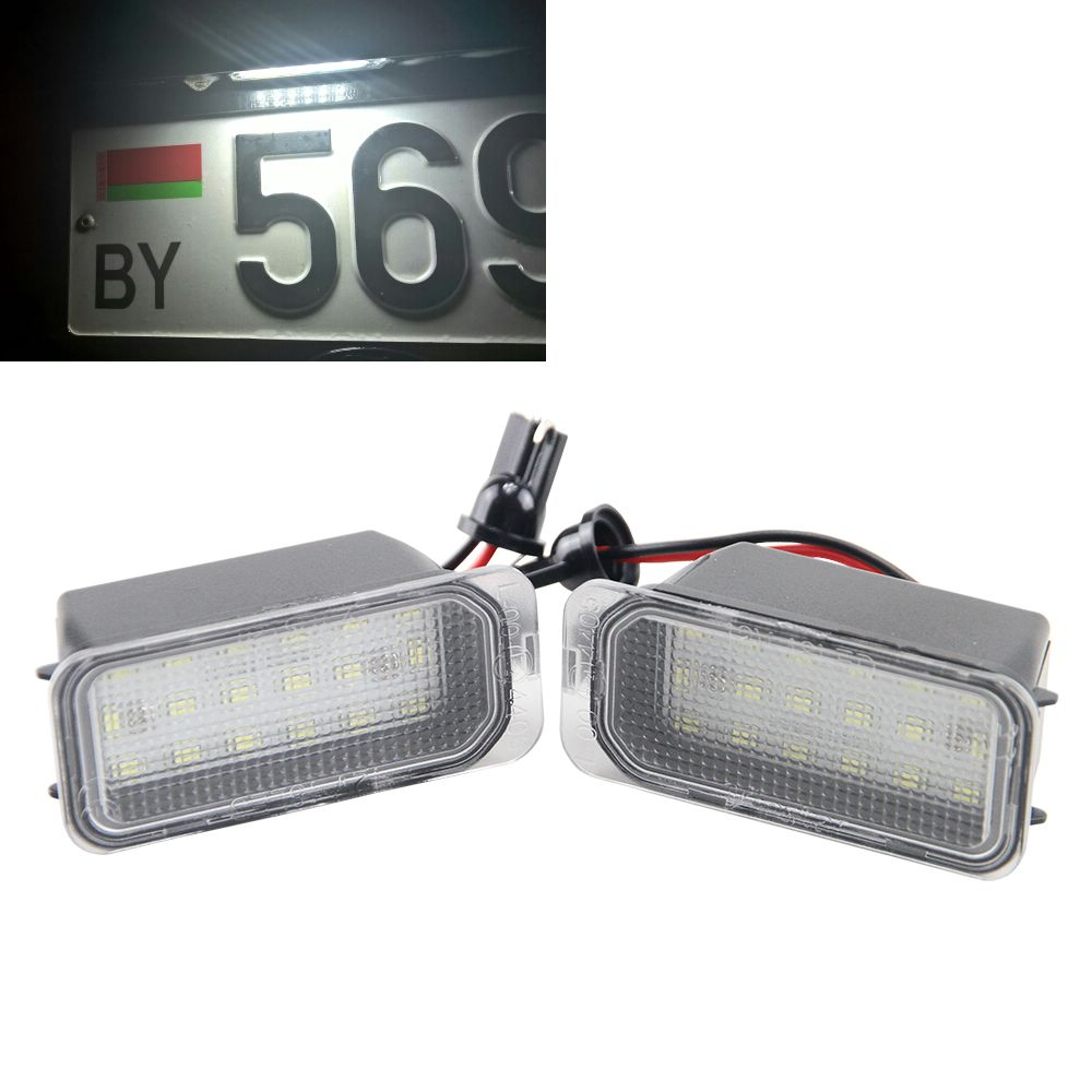 2x Error Free Led Rear License Plate Light 12V For Ford Fiesta JA8 S ...
