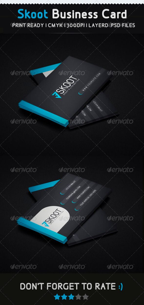 Skoot Creative Business Card | Fonts-logos-icons | Pinterest ...
