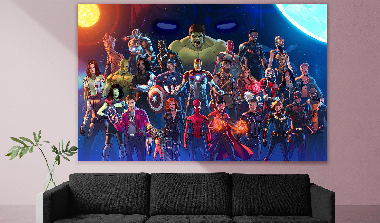 Avengers Assemble Marvel Room All Of Marvel Marvel Poster Avengers Iron Man Superhero Movie Wall Art Geek Poster Geek Gift