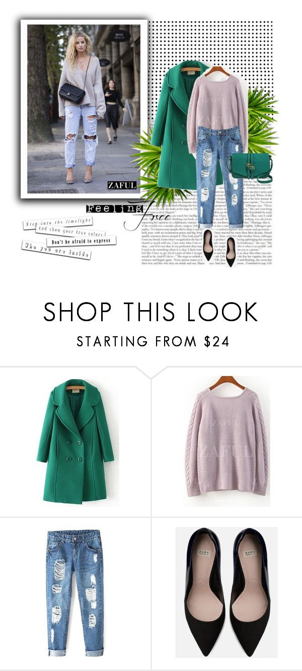 """""""zaful.com lkid=5695 (28)"""" by mell-2405 ❤ liked on Polyvore featuring мода, Zara и Merona"""