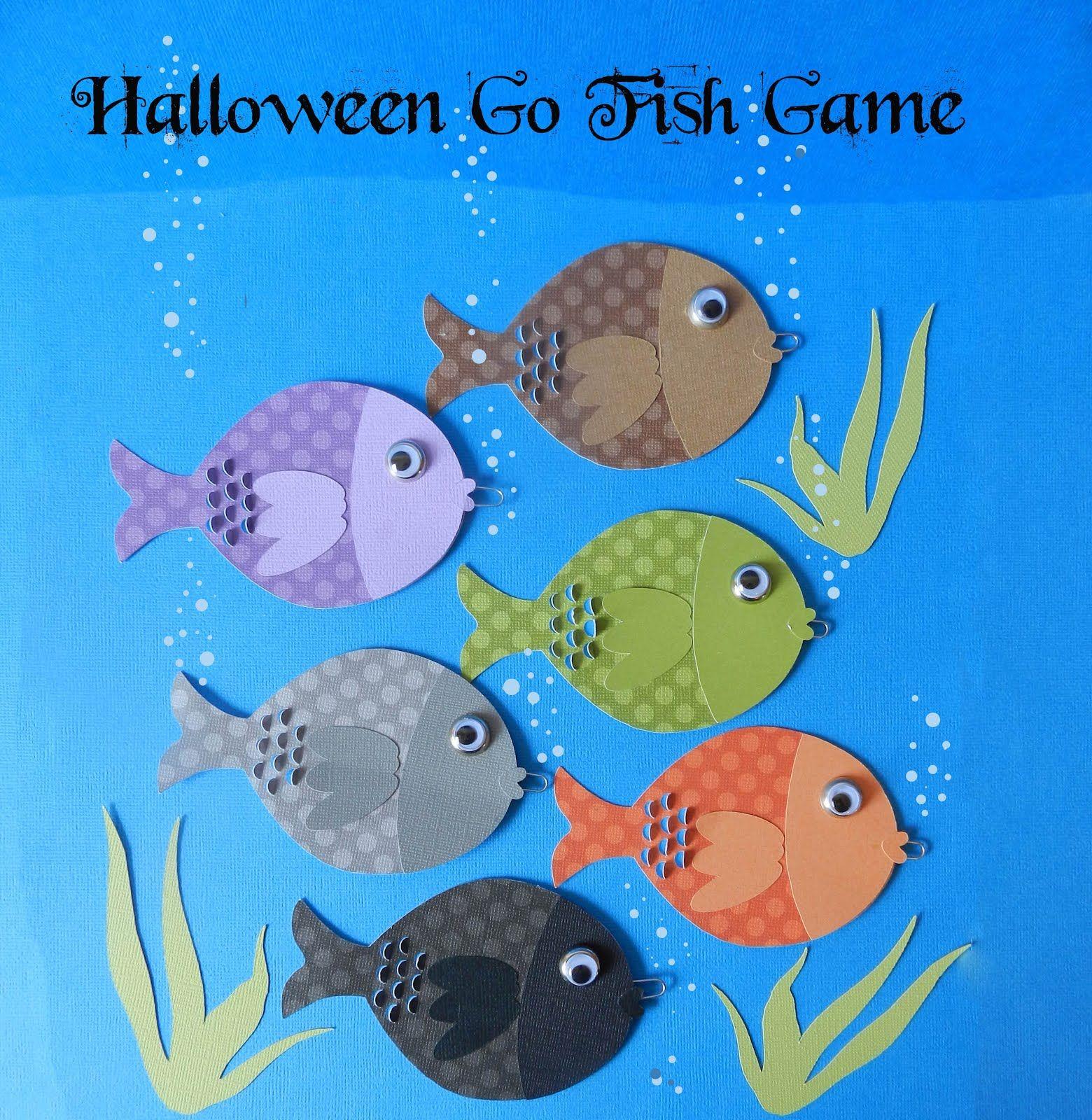 Go Fish game perfect for home parties, classroom parties, school carnivals, neighborhood parties #HalloweenParties #HalloweenGames