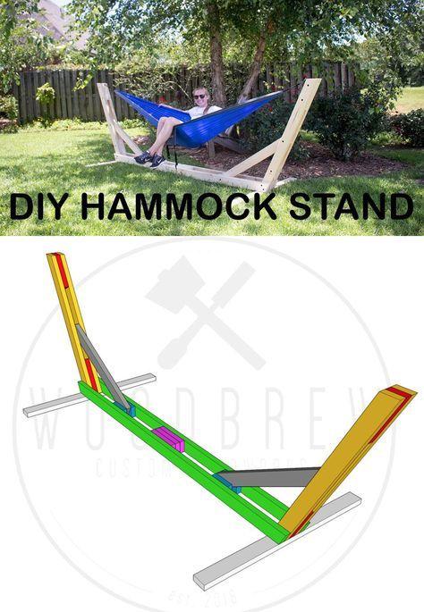 How To Build An Outdoor Hammock Stand 25 En 2020 Hamac Diy
