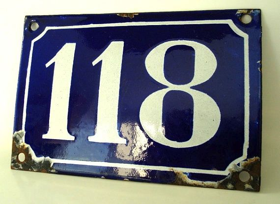 Classic French House Numbers French House Number House Numbers French House