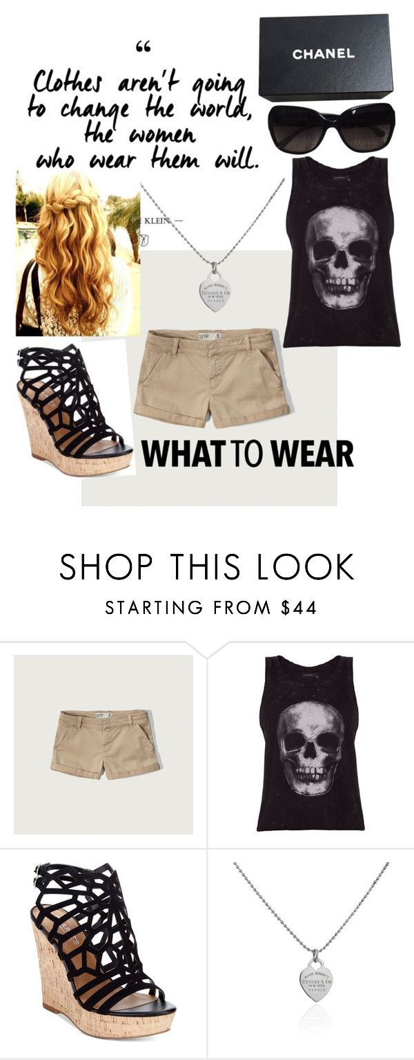 """""""Untitled #15"""" by angi-hunter on Polyvore featuring Abercrombie & Fitch, ElevenParis, Charles by Charles David, Tiffany & Co. and Chanel"""