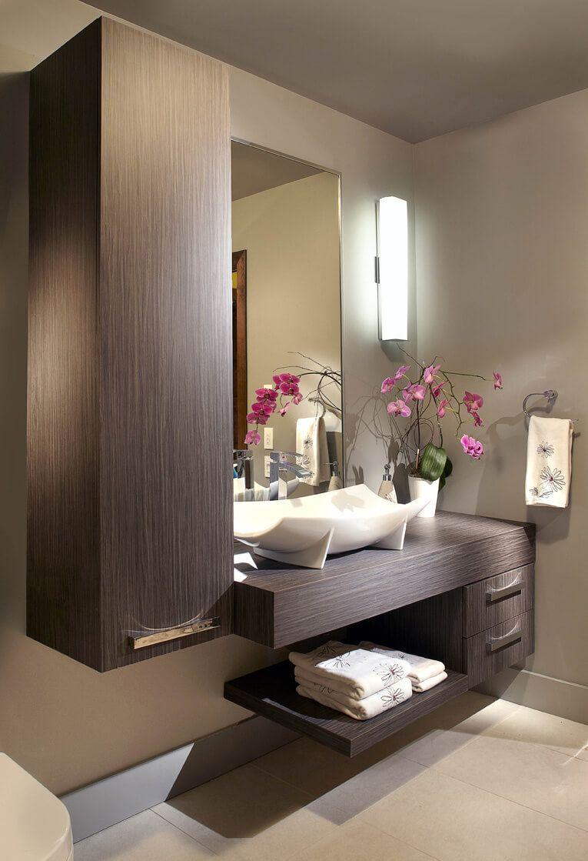Vanit de salle de bain cl s en main cuisines bernier - Mitigeur thermostatique salle de bain ...