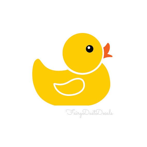 Rubber Ducky Wall Decals set of 6 - duck wall decals - bathroom wall ...