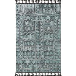 Photo of benuta Trends Kurzflor Teppich Laila Blau/Schwarz 190×290 cm – Moderner Teppich für Wohnzimmer