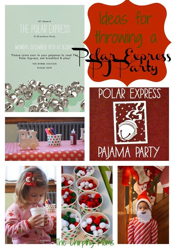 Attractive Pajama Christmas Party Ideas Part - 3: Polar Express Party Ideas : The Chirping Moms