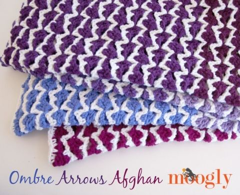 Ombre Arrows Afghan