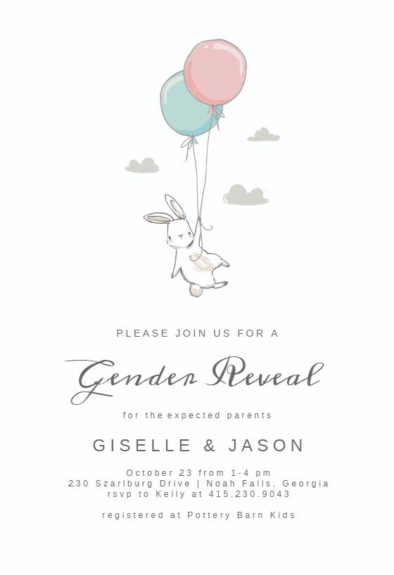 Bunny Shower Gender Reveal Invitation Template Free Greetings Island Gender Reveal Invitations Template Gender Reveal Invitations Gender Reveal Baby Shower Invitations