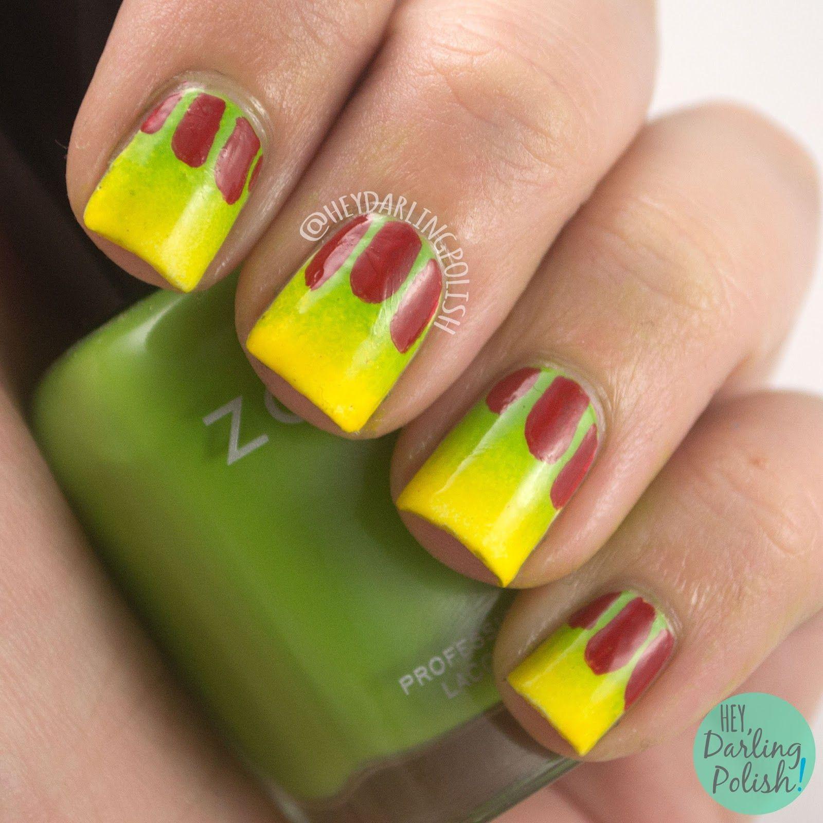 nails, nail art, nail polish, jurassic park, hey darling polish ...