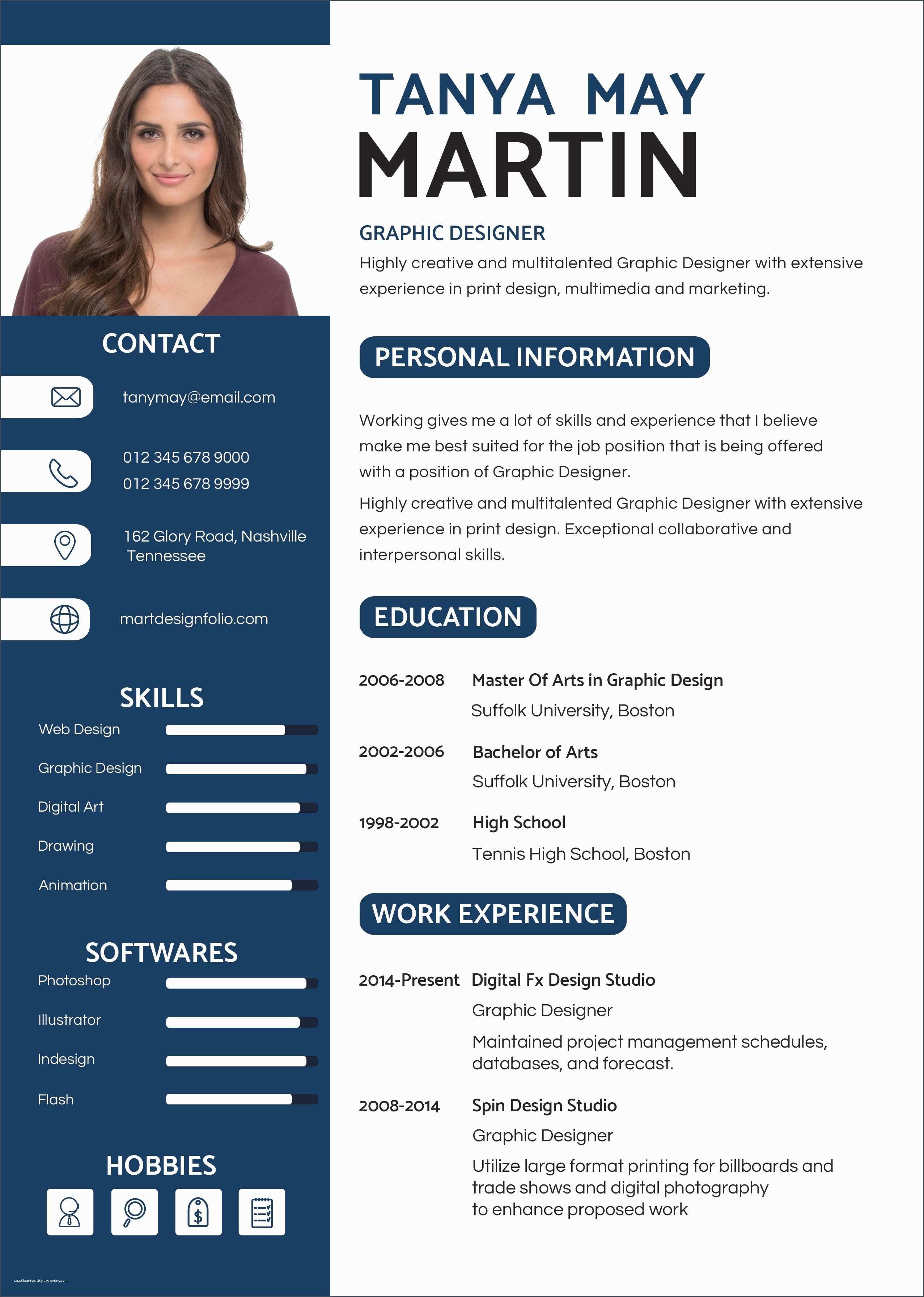 40 Resume With Photo Cv Kreatif Desain Cv Desain Resume
