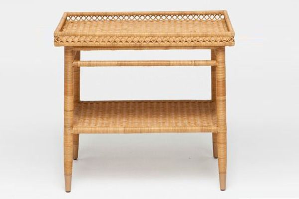 """Sarah Side Table, available at Clayton Gray Home.  """"Wicker and rattan feel light and fresh, perfect for spring and bringing a lit..."""