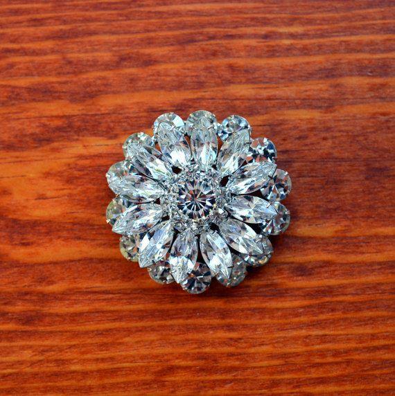 Wedding Brooch Swarovski Crystal Rhinestone by Isaccessories
