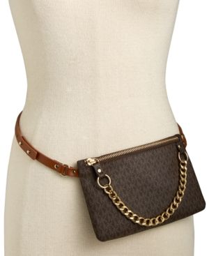 d39069414b4f Michael Michael Kors Mk Logo Leather Fanny Pack - Brown