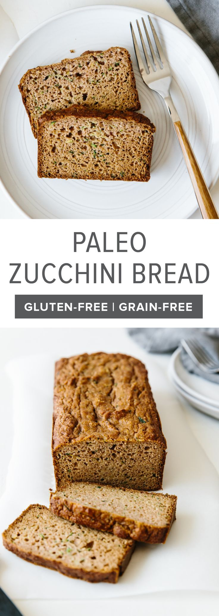 This Super Moist Paleo Zucchini Bread Recipe Is Made With Almond Flour Tapioca Flour And Coconut Paleo Zucchini Bread Gluten Free Zucchini Bread Paleo Baking