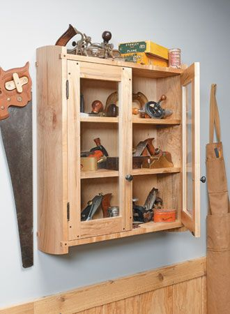 Build A Fitting Home For Your Favorite Tools With This Wall Mounted Tool Cabinet Plan From Woodsmith Pla Tool Cabinet Simple Woodworking Plans Workshop Storage