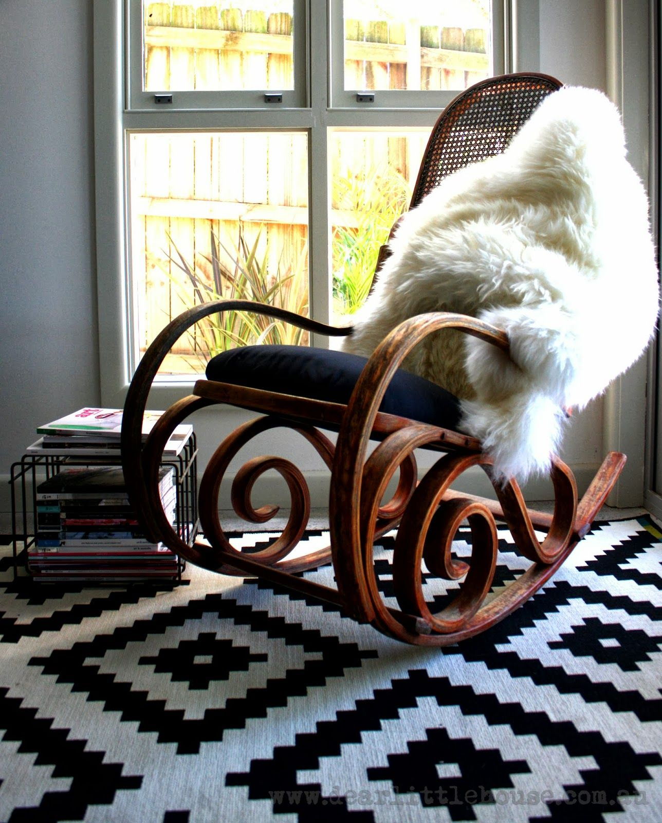 Original white painted bentwood rocking chair is no longer available - Dear Little House Bentwood Rocker Restoration