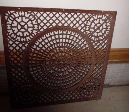 Large Antique Cast Iron Cold Air Return Victorian Floor
