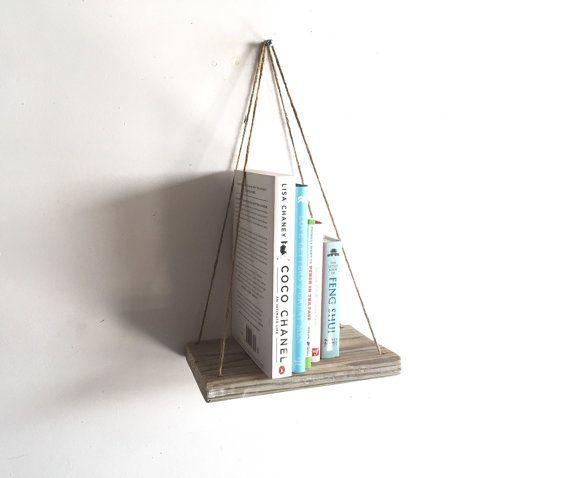 Handmade Hanging Shelf, Rustic, Beach, Decor, Reclaimed Wood, Home Decor,