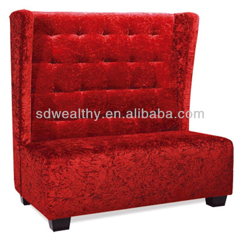 High Back Red Love Seat Sofa Chair