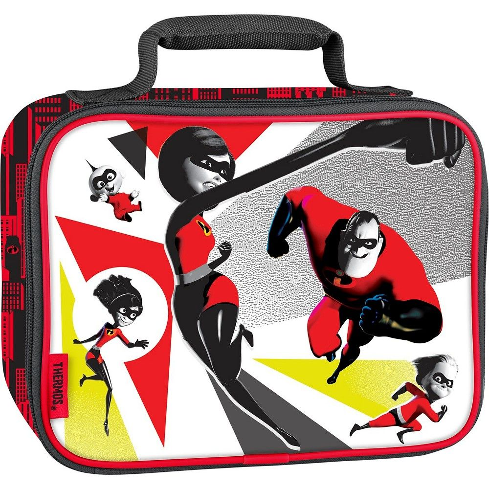 Thermos The Incredibles Lunch Bag Red Kids Lunch Bags