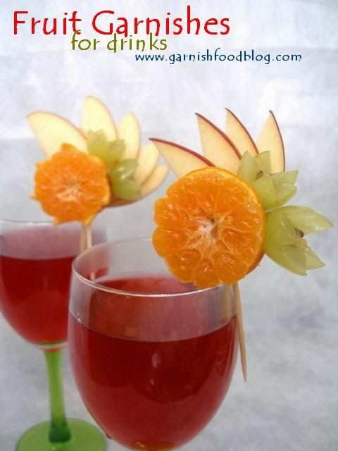 Cocktail Fruit Decoration In 2019 Christmas Drinks Fruit