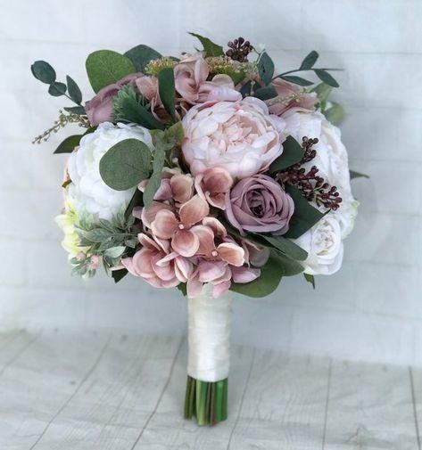 Hochzeitsstrauß Dusty Rose Bridal Bouquet Blush Wedding #dustyrosewedding