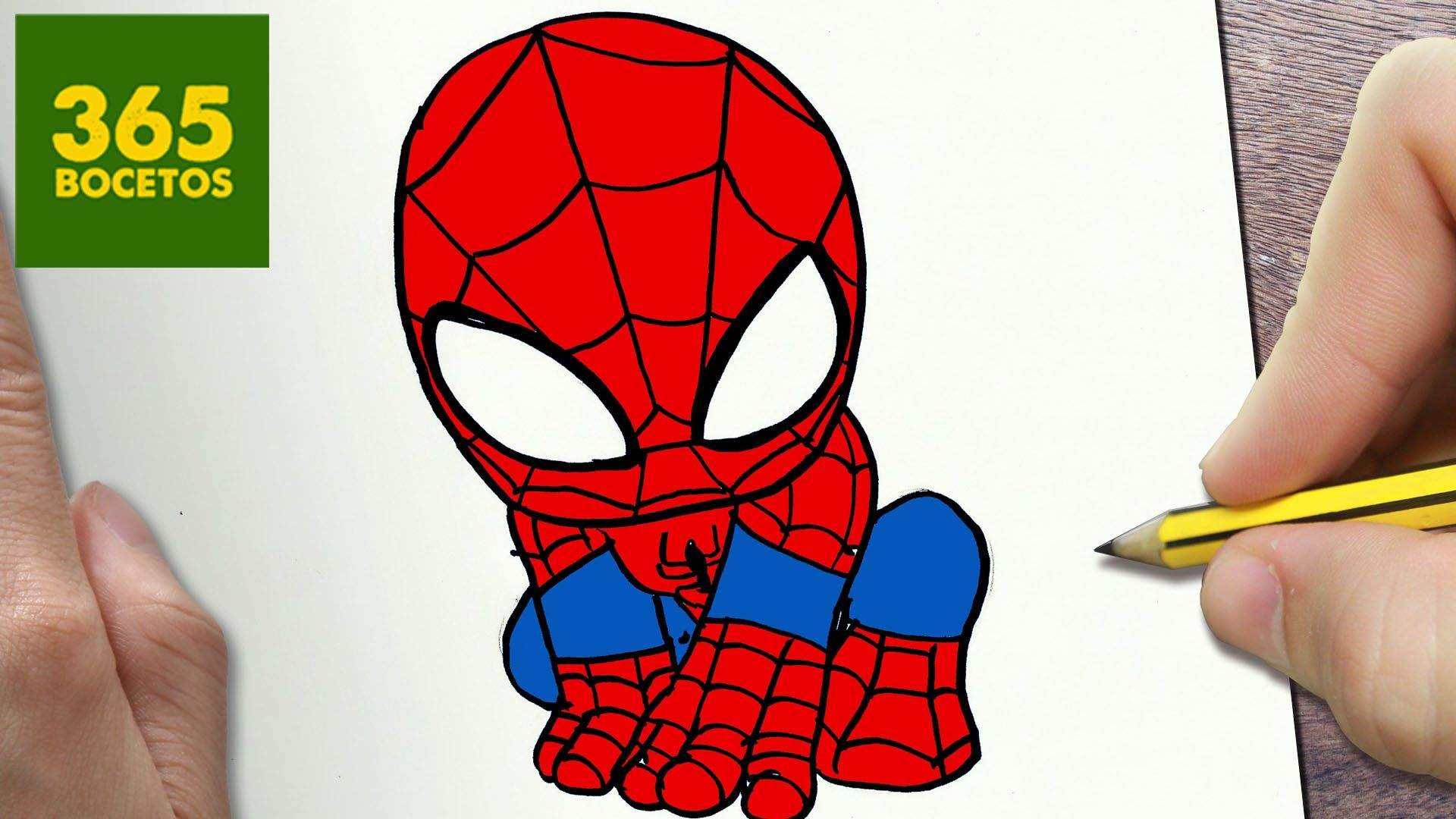 Como dibujar spiderman kawaii paso a paso dibujos kawaii - Dessin spiderman facile ...
