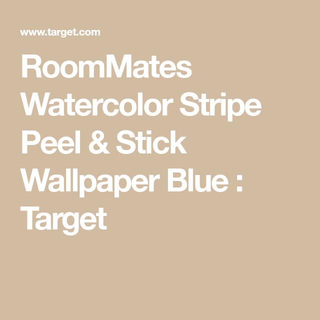 Roommates Watercolor Stripe Peel Stick Wallpaper Blue Peel And Stick Wallpaper Temporary Decorating Decorating Solutions