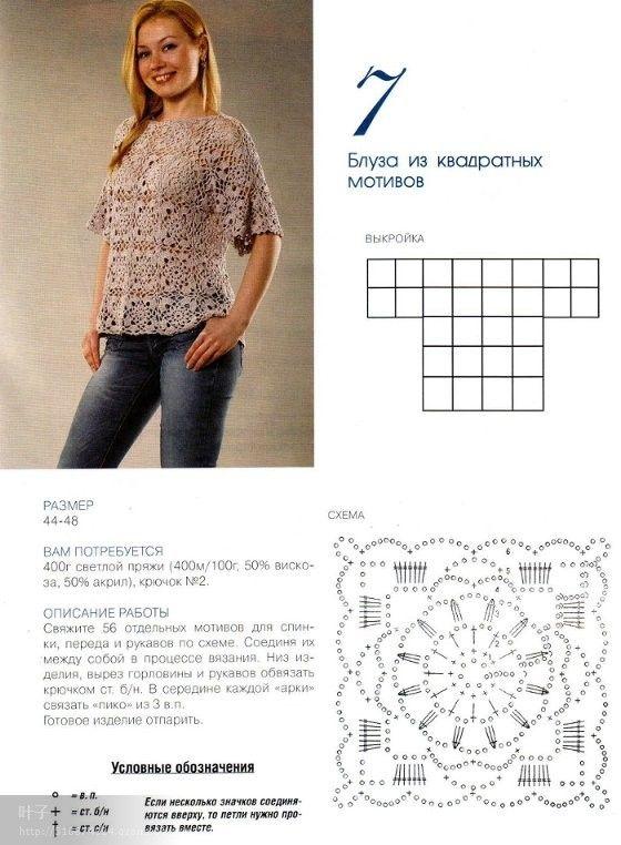 Enganchado en crochet: top de ganchillo / Blusa en ganchillo / Blusa ...