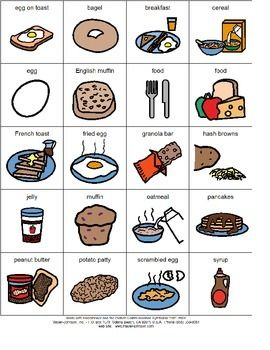 Pecs Breakfast foods | pecs | Pinterest | Autismo ...