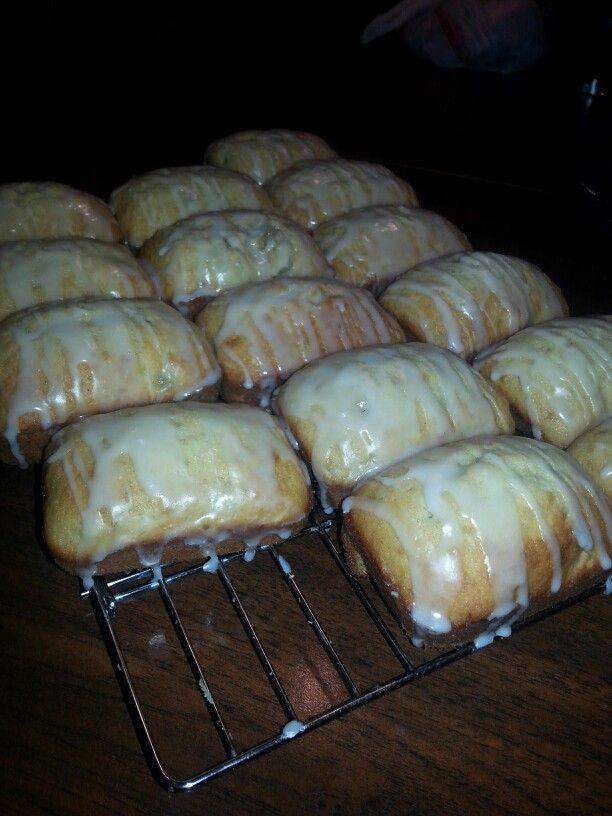 Mini Glazed Banana Breads