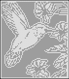 Hummingbird Among Flowers Crochet Afghan Pattern