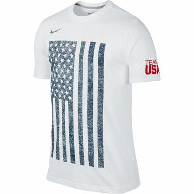 Nike USA Flag Graphic Performance T-Shirt - White