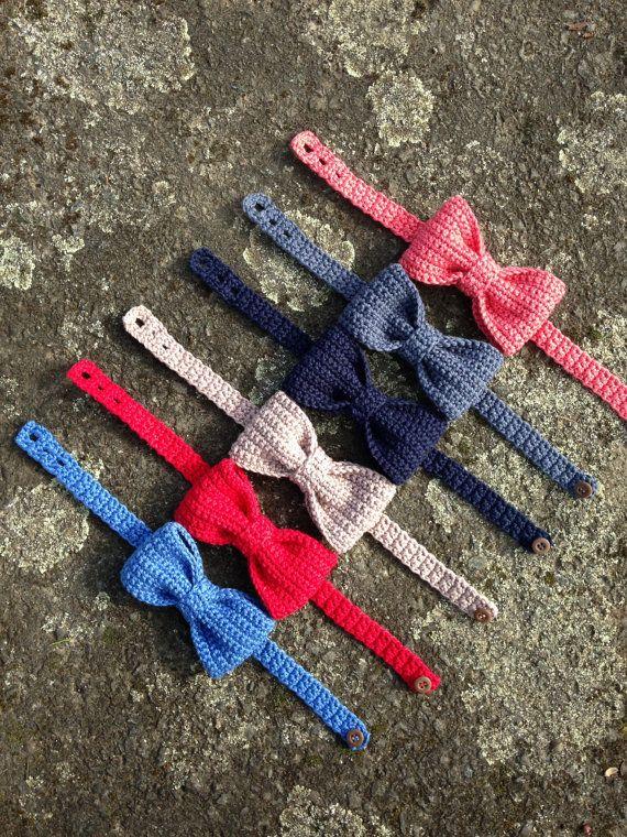 Crochet Handmade Bow Tie, Boys Stylish Bow Tie by Mika Barmble ...