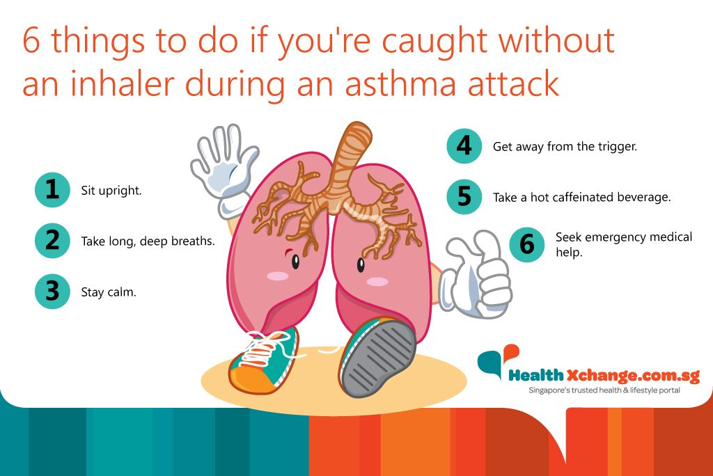 what to do asthma attack no inhaler