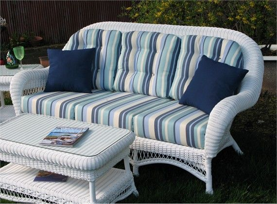 Westbury Outdoor Wicker Sofa Wicker Sofa Outdoor Sunbrella