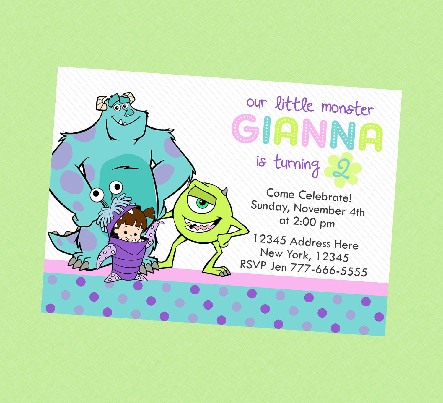 invitation | 2nd Birthday Boo Party | Pinterest | Monsters and Birthdays